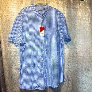 NWT Izod plaid button down up shirt Mens 2X XXL
